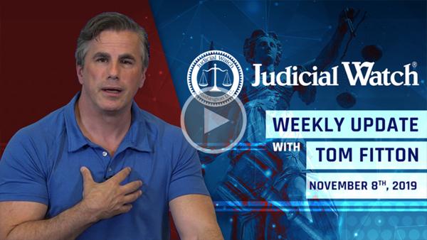 Judicial Watch Weekly Update